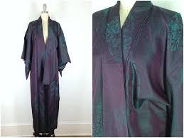 vintage kimono silk kimono robe dressing gown long robe