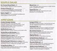 Catering Menu Item List Olive Garden Italian Restaurant - olive garden menu menu for olive garden silverdale silverdale