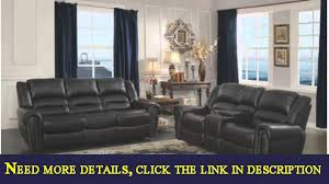 homelegance 9668blk2 double glider reclining loveseat with center