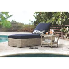 Home Decorators Collection Naples Light Grey Patio Chaise Lounge - Home decorators patio furniture
