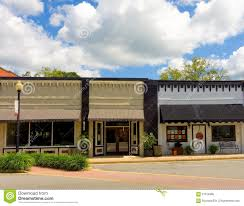 small town storefronts in georgia editorial photo image 61616386