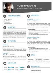 contemporary resume template 28 templates modern resume