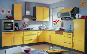 grey kitchen cabinets and yellow walls kitchen exitallergy