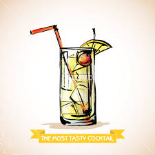 cocktail vector hand drawn illustration of cocktail vector collection royalty