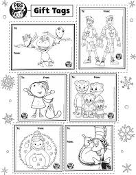 pbs kids gift tags happy holidays pbs parents pbs