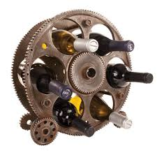 amazon com gears and wheels wine rack by foster and rye tabletop