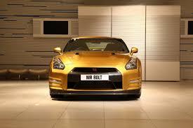Nissan Gtr Yellow - one off nissan gt r usain bolt