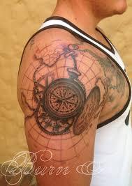 Compass Map Portfolio Burn Inc Tattoos