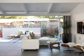 Modern White Living Room Designs 2015 Dining Room Modern Exterior Home Design With Nanawall And Lowes