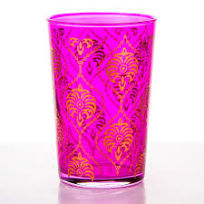 pink taouss moroccan tea glass drinkware dining u0026 kitchen