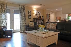 shabby chic leather sofa decorating with leather furniture for traditional living room with