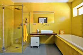 yellow bathroom ideas wall color yellow a mood in the bathroom hum ideas