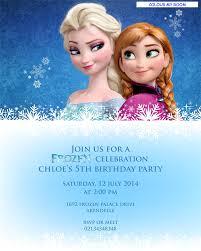 printable frozen birthday party personalised invitation 5x7