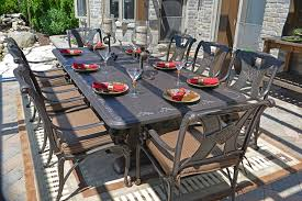 Cast Aluminum Patio Table And Chairs Amalia 8 Person Luxury Cast Aluminum Patio Furniture Dining Set