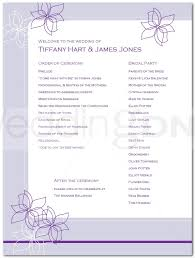 wedding program outline template wedding reception program outline agenda wedding reception