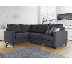 buy hygena seattle fabric right hand corner sofa bed charcoal at