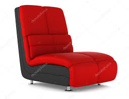 Modern Leather Armchair Black And Red Modern Leather Armchair Isolated On White Background