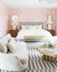 Moroccan Mystique Feature Wall Contemporary Bedroom by Gray And White Striped Rug Design Ideas