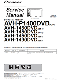 pioneer avh p1400dvd service manual pdf download