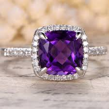 compare prices on amethyst engagement amethyst engagement ring cushion cut rose gold wedding set