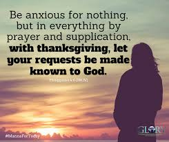 be anxious for nothing christian fellowship international