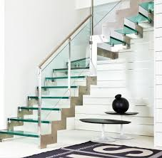 Modern Design Staircase Awesome Glass Steps Open Staircase And Stainless Steel Metal