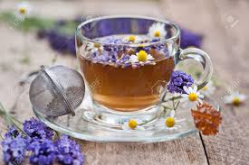 lavender tea lavender and chamomile tea stock photo picture and royalty free