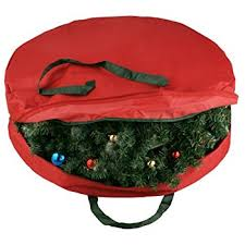 wreath storage bag with handles water and