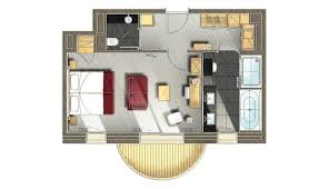 plan de chambre avec dressing et salle de bain chambre 2 personnes méribel le kaïla junior suite prestige