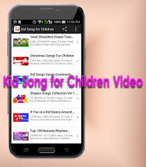 kid song for children video android apps on google play