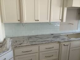glass backsplash tile ideas for kitchen blue green l white