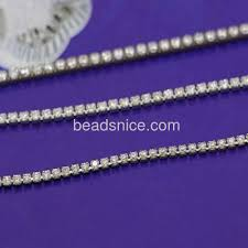 Wholesale Jewelry Making - wholesale sterling silver chain rhinestone cup chains with hole