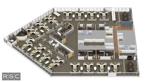 3d rendering top down office floor plan3d rendering top down