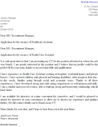 health care assistant cover letter example u2013 cover letters and cv
