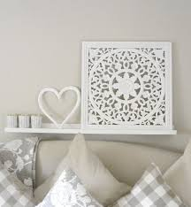 Bedroom Wall Panels Uk Small White Carved Ornate Wall Panel Maison By Emma Jane