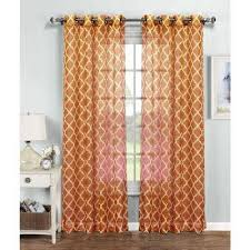 Double Wide Grommet Curtain Panels Grommet Sheer Curtains U0026 Drapes Window Treatments The Home
