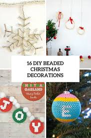Easy Beaded Christmas Ornaments - 16 cool and bold diy christmas beaded decorations shelterness