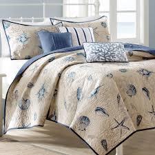 Nantucket Bedroom Furniture by Nantucket Coastal Seashell 6 Pc Coverlet Bed Set