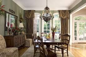 dining room view window treatments for bay windows in dining