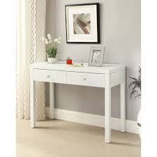 mirrored console vanity table white glass mirrored console hallway dressing table 2 drawer