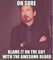 Meme Beard Guy - oh sure imgflip