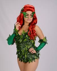green halloween wig poison ivy accessories wig gloves eye mask hair clip green
