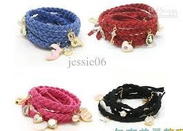 leather bracelet girl images 2018 latest rope braided leather bracelet girl 39 s women 39 s jewelry jpg