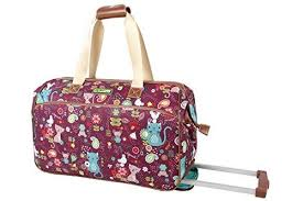 lilly bloom shop bloom luggage designer pattern suitcase wheeled duffel
