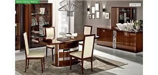 italian dining room sets roma italian dining room set in walnut lacquer finish