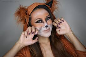 2 Face Halloween Makeup Fox Halloween Tutorial From Head To Toe