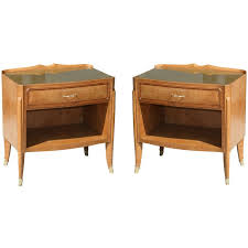 Bed Side Tables Pair Of Burl Wood Bedside Tables By Paolo Buffa For Sale At 1stdibs