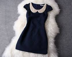 dress with pearl collar 106 from whitelily fashion on storenvy