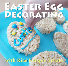 Decorating Easter Eggs With Rice by Egg Decorating With Rice Krispie Treats
