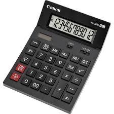 le de bureau à pile calculatrice de bureau canon as 2200 gris foncé solaire à pile s